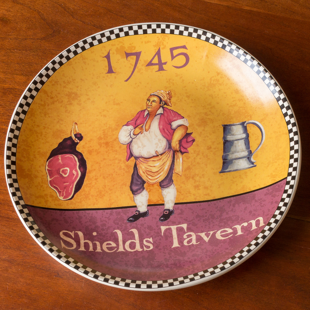 Shield's Tavern Dessert Plate   The Shops at Colonial Williamsburg