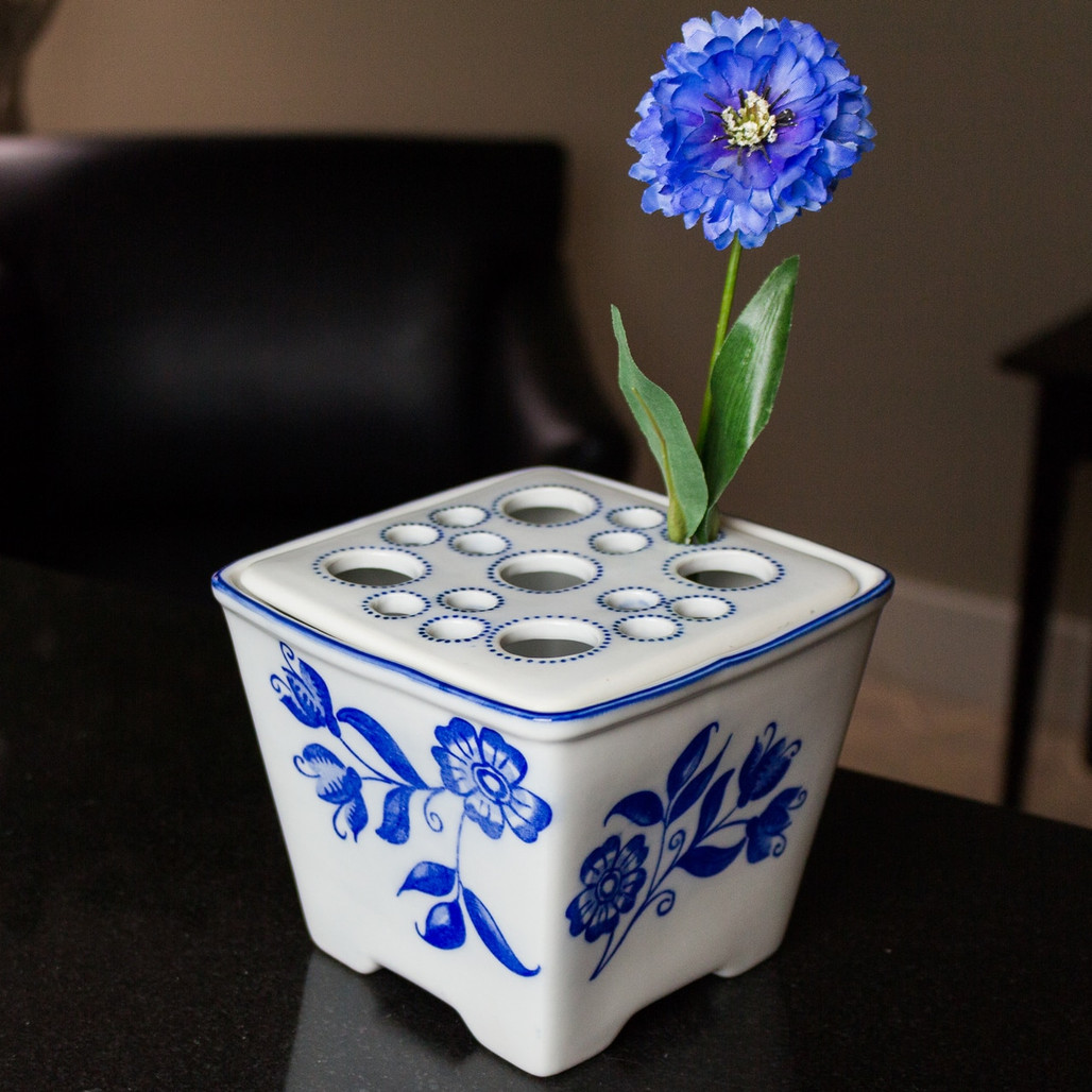 Delft Garden Square Flower Brick | The Shops at Colonial Williamsburg