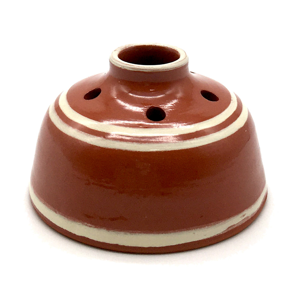 Striped Red Earthenware Inkwell | The Shops at Colonial Williamsburg
