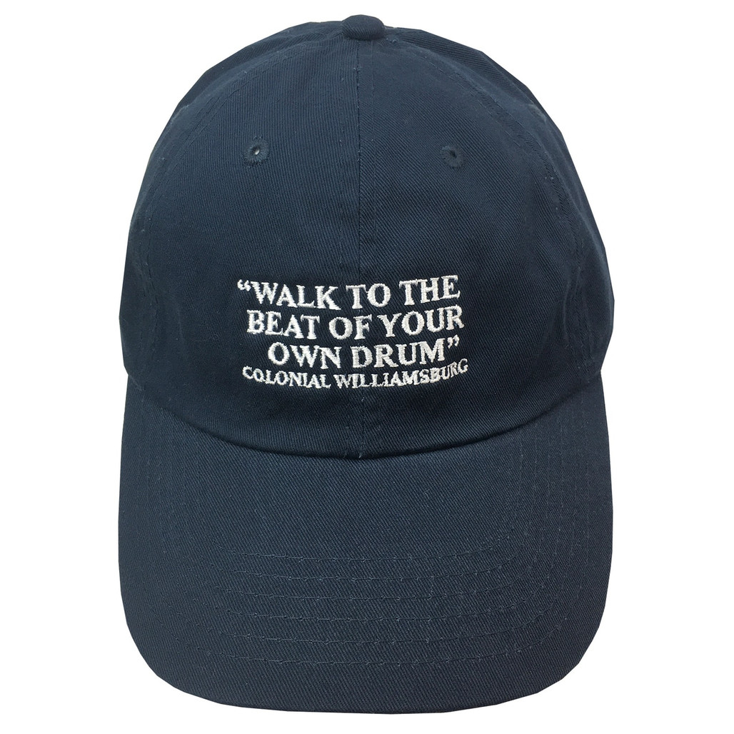 """Colonial Williamsburg """"Walk to the Beat of Your Own Drum"""" Baseball Cap - Navy 