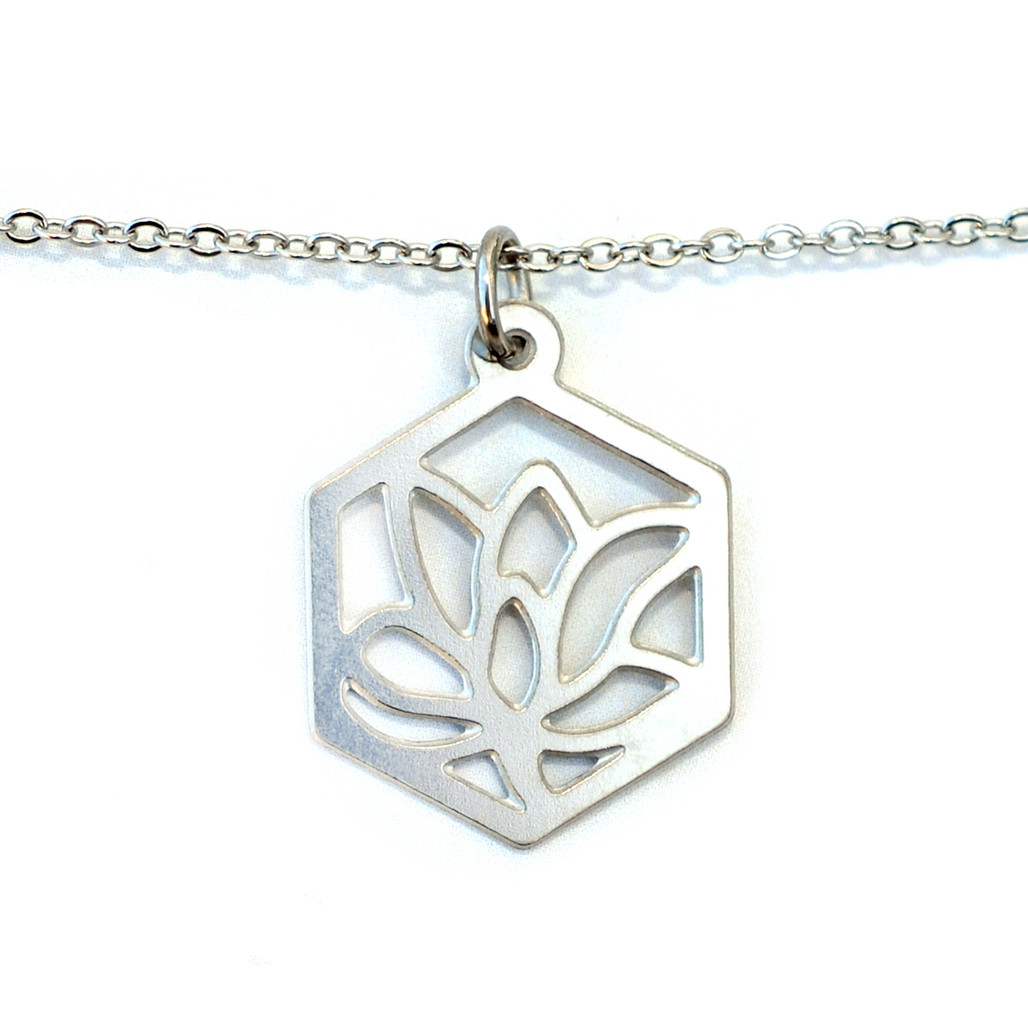 Melissa Lew Magnolia Blossom Stainless Steel Necklace | The Shops at Colonial Williamsburg