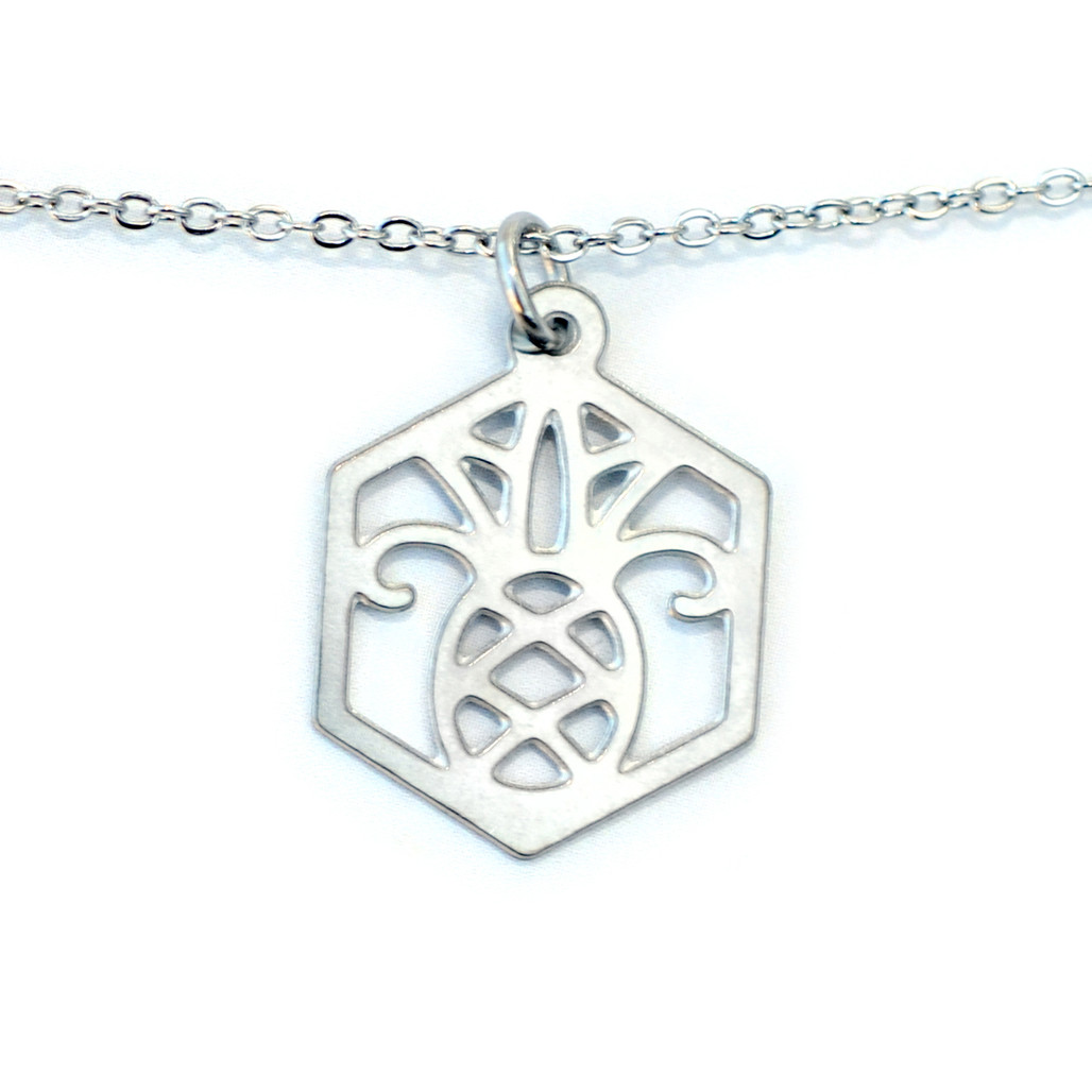 Melissa Lew Pineapple Stainless Steel Necklace | The Shops at Colonial Williamsburg