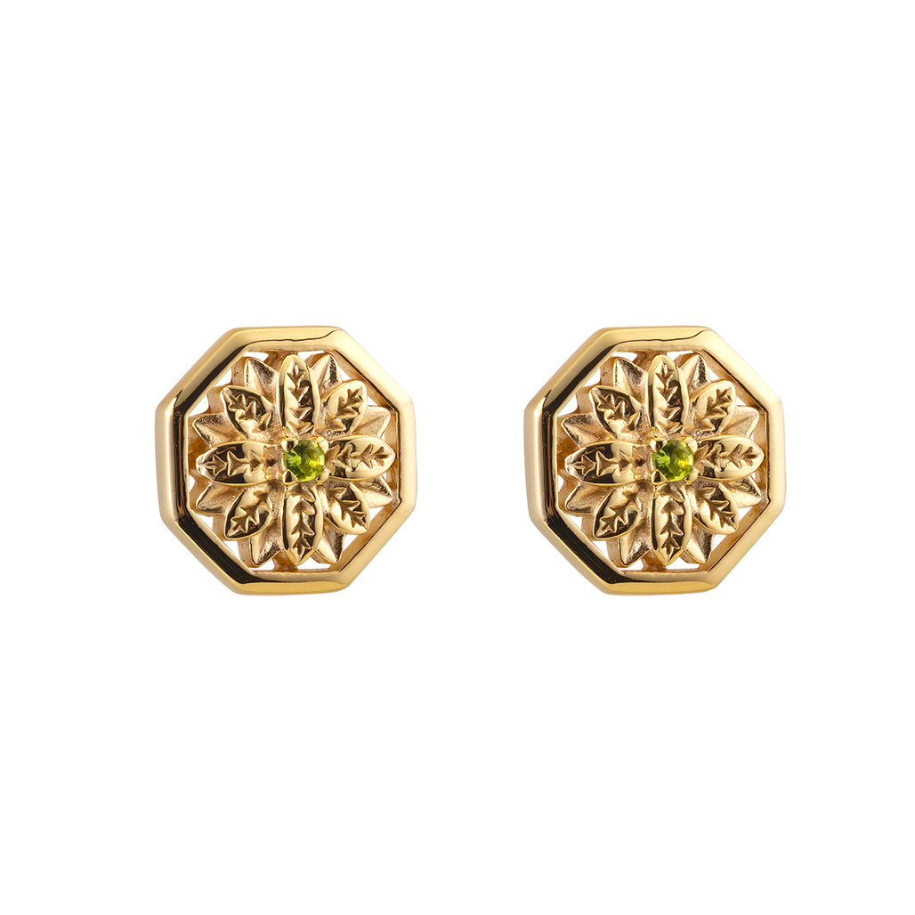 Ornate Flower Stud Earrings   The Shops at Colonial Williamsburg