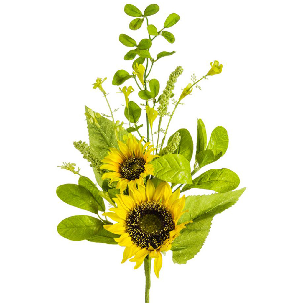 """Yellow Sunflower & Wildflower Spray 19"""" 