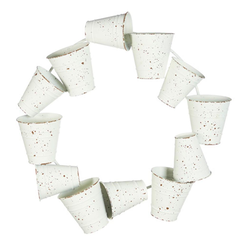 White Mini Garden Buckets Wreath   The Shops at Colonial Williamsburg