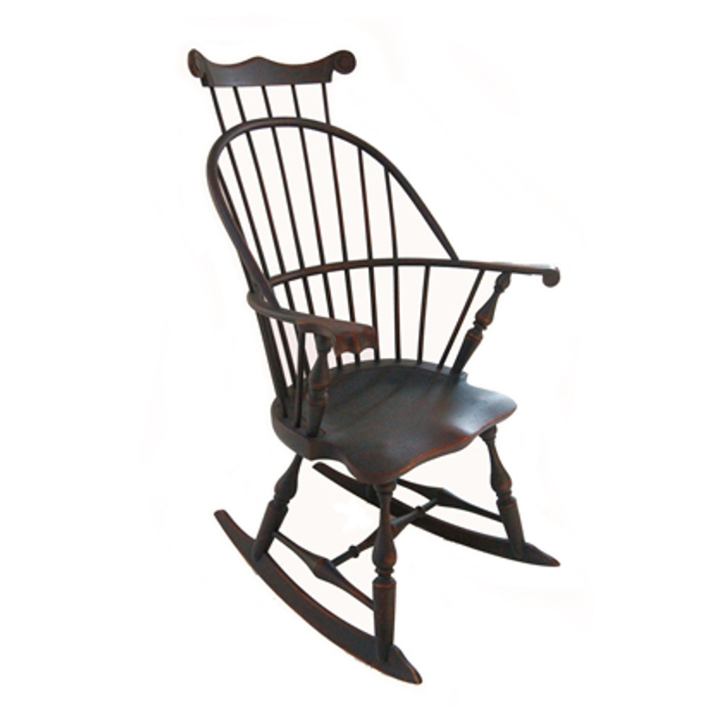 New England Bow Arm Rocker with Comb by Benner's Woodworking | The Shops at Colonial Williamsburg
