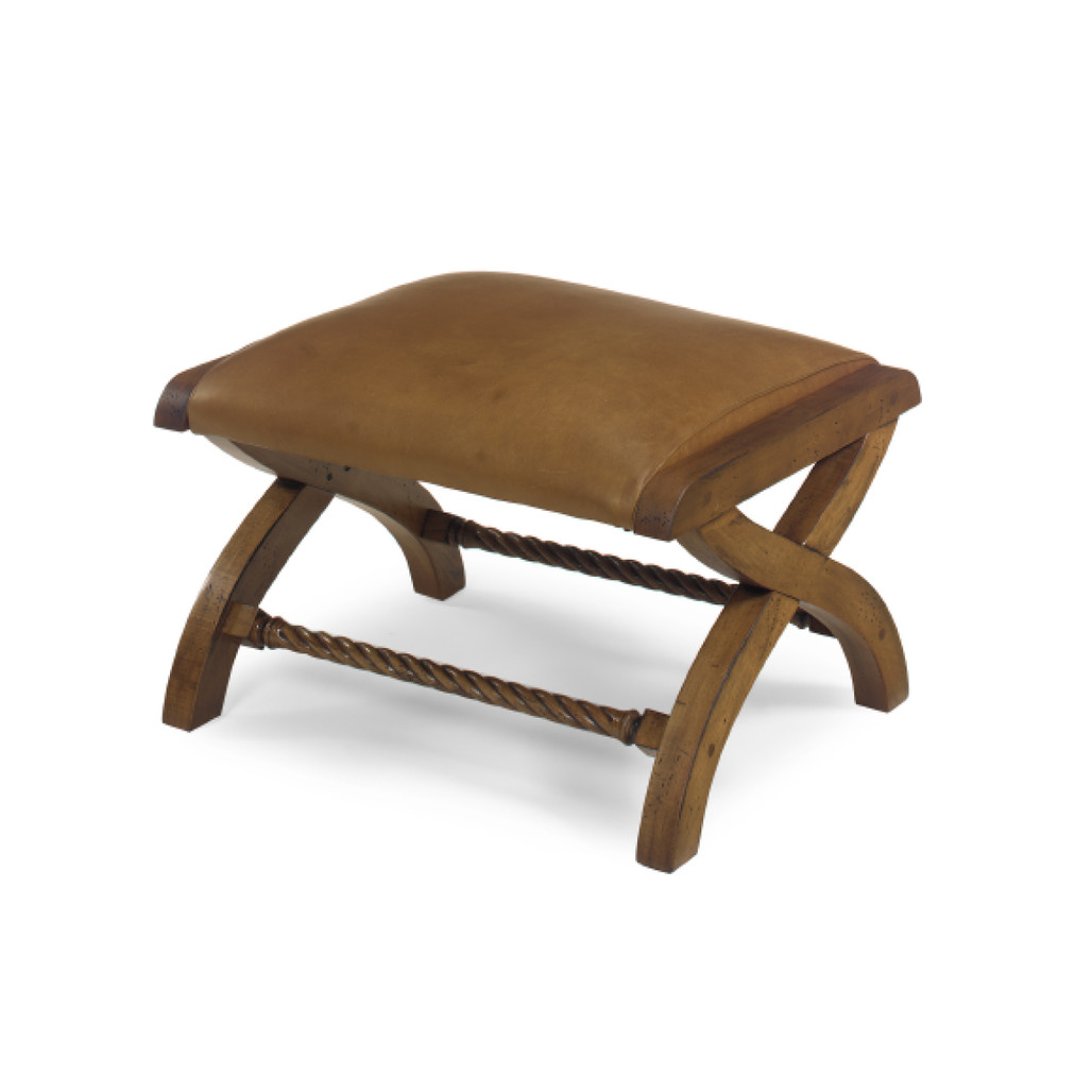 Kalahari Ottoman by McKinley Leather Furniture   The Shops at Colonial Williamsburg
