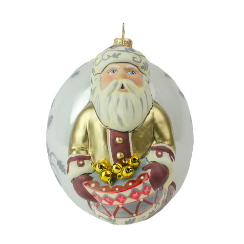 Vaillancourt Father Christmas with Sack of Bells Jingle Ball Ornament