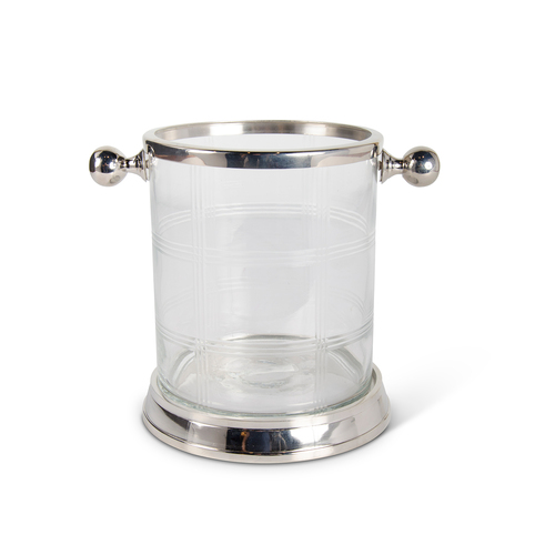 Ice Bucket Etched With Knob Handles