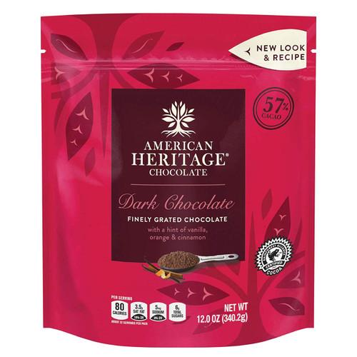 American Heritage Grated Dark Chocolate - package