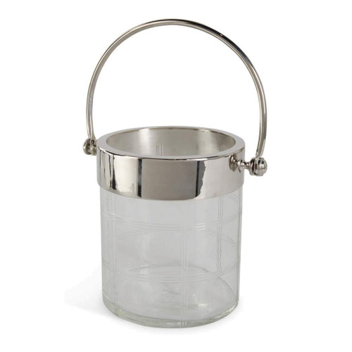 Etched Glass Ice Bucket with Tongs | The Shops at Colonial Williamsburg