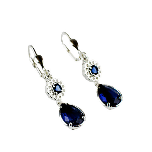 Sapphire Crystal Drop Earrings