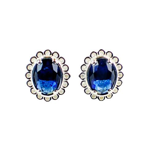 Sapphire Crystal Stud Earrings