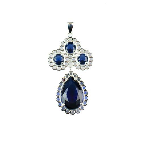 Sapphire Crystal Drop Pendant