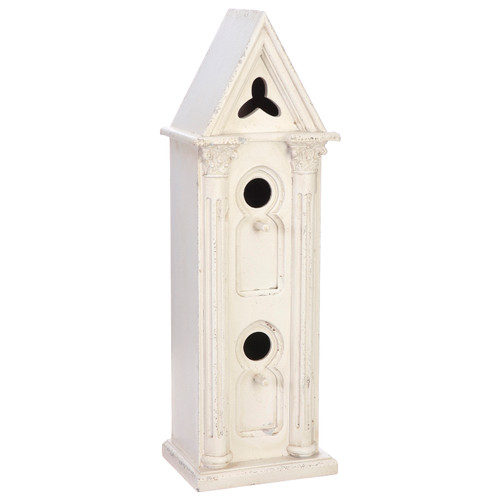 White Stone Wall Bird House