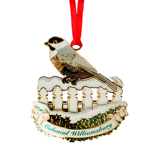 Chickadee on Fence Ornament | The Shops at Colonial Williamsburg