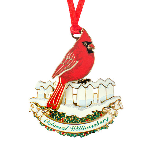Cardinal on Fence Ornament | The Shops at Colonial Williamsburg