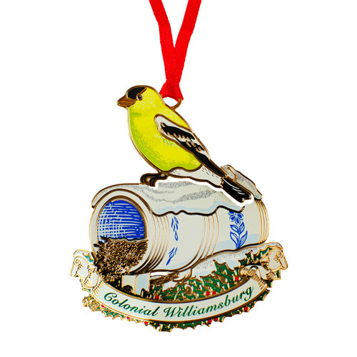 Goldfinch Bird Bottle Ornament | The Shops at Colonial Williamsburg