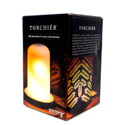 Torchier LED Simulated Fire Base