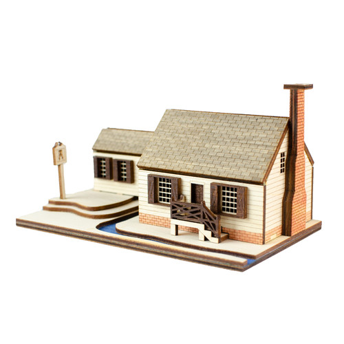 Cabinetmakers Shop Replica Lighted House
