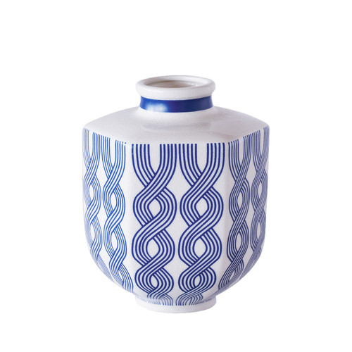 Port 68 WILLIAMSBURG Evelyn Blue Small Vase