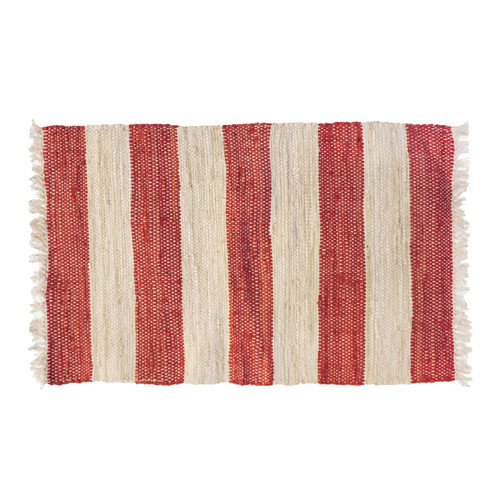 Red and White Caroline Rug