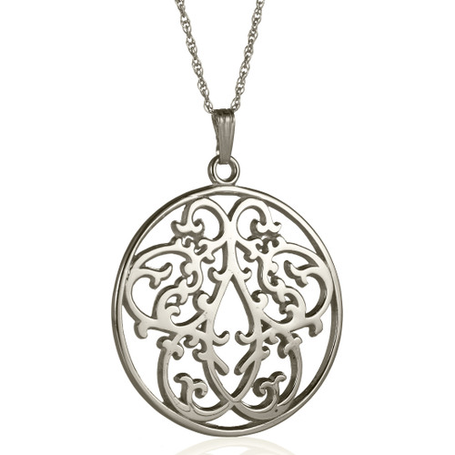 Large Clockcase Full Detail Pendant, Sterling Silver