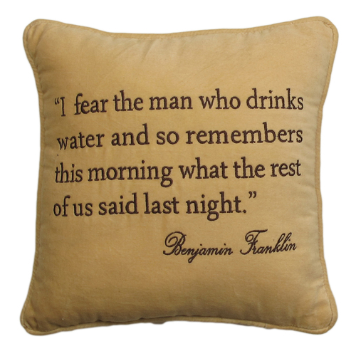 Ben Franklin Quote Pillow