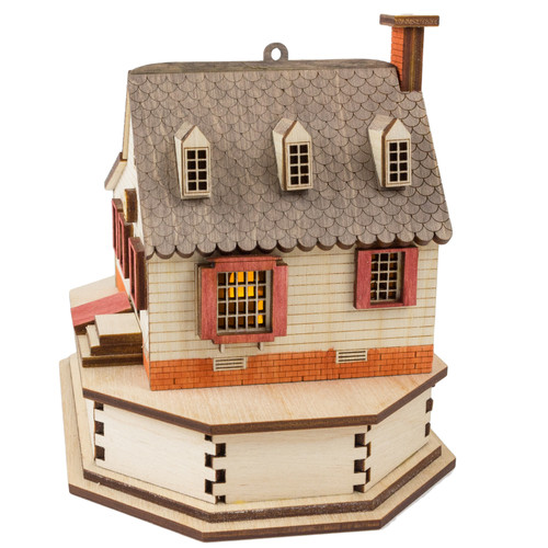 Gunsmith Replica Lighted House - side