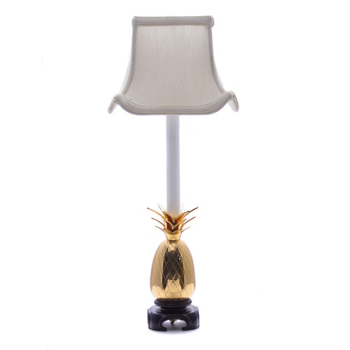 Brass Pineapple Buffet Lamp