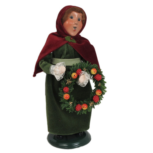 Byers' Choice Holiday Girl with Velvet Capelet