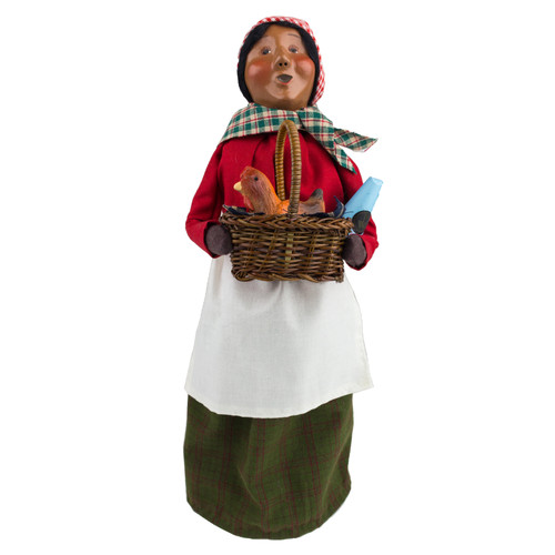 Byers' Choice African American Woman with Chicken