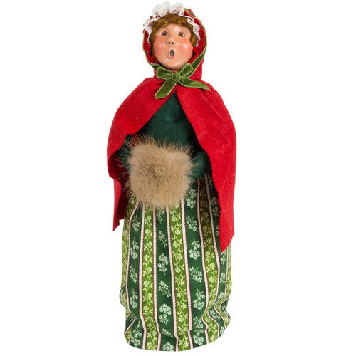 Byers' Choice Woman with Red Caplet and Muff