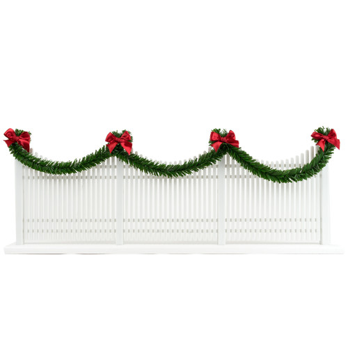 Byers' Choice Holiday Bows and Garland Picket Fence