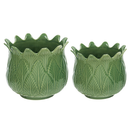 Green Tulip Planter