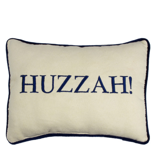 Huzzah! Embroidered Pillow