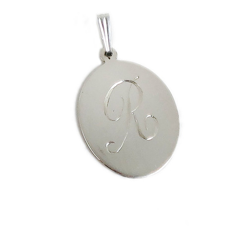Small Oval Sterling Silver Plain Pendants