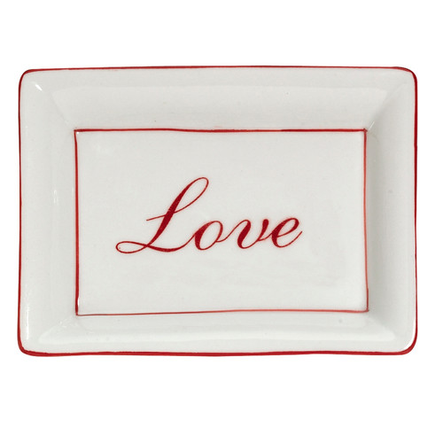 Red Love Dish