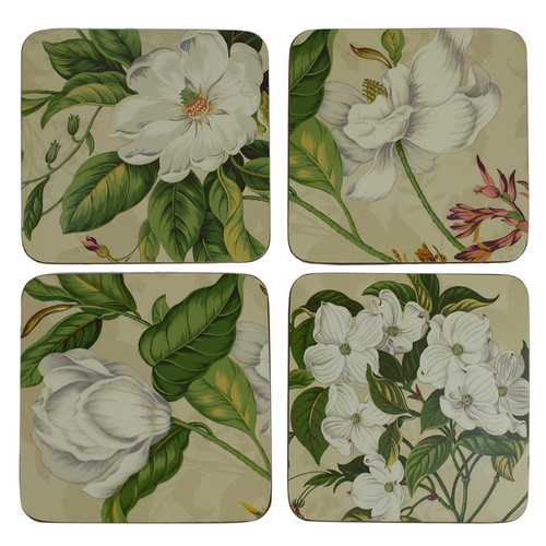 Ivory Garden Images Coasters
