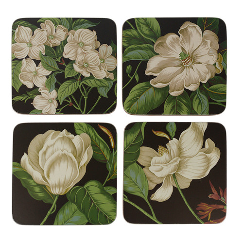 Black Garden Images Coasters