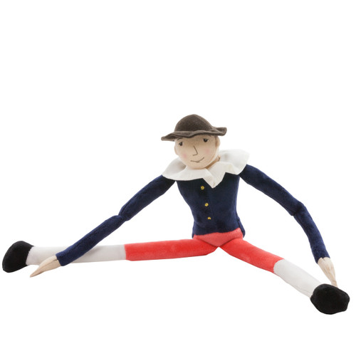 Navy and Red Hotch Potch Velour Doll