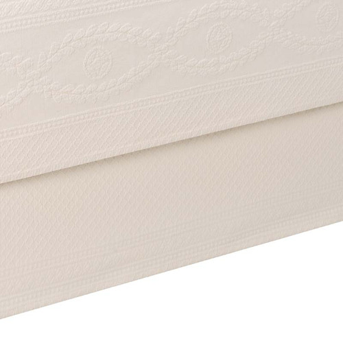 Ivory Abby Bedding - top and reverse pattern detail