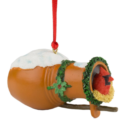 Bird Bottle Ornament with Cardinal