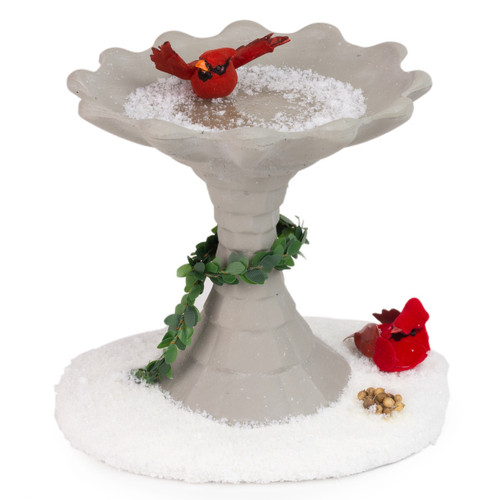 Byers' Choice Holiday Birdbath