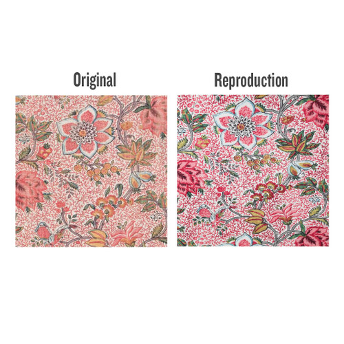 Colonial Williamsburg Reproduction Fabric - Comparison of Original Textile and Reproduction Fabric | The Shops at Colonial Williamsburg