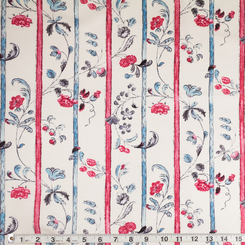 Colonial Williamsburg Reproduction Fabric - Trails and Leaves 100% Cotton Fabric