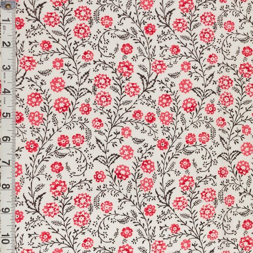 Colonial Williamsburg Reproduction Fabric - Cascading Floral 100% Cotton Fabric