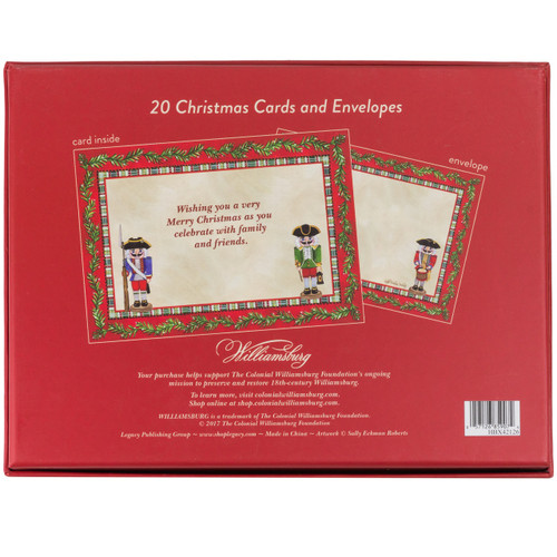 Colonial Nutcrackers Christmas Cards