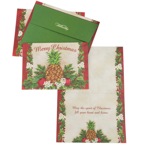 Holiday Pineapple Christmas Cards