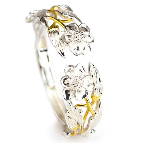 Annabell's Garden Sterling Silver and Gold Plated Bracelet
